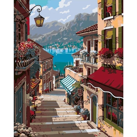 Small Town by the Sea - Van-Go Paint-By-Number Kit