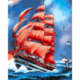 Red Sails at Sea - Van-Go Paint-By-Number Kit