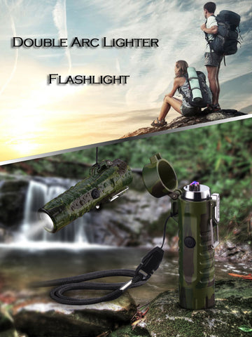 The Inferno Military Grade Plasma Arc Lighter - No Gas, Waterproof, Rechargeable