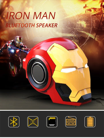 Cool Iron Man Helmet Bluetooth V4.2 Rechargeable Speaker with FM Radio - MaxStore4U