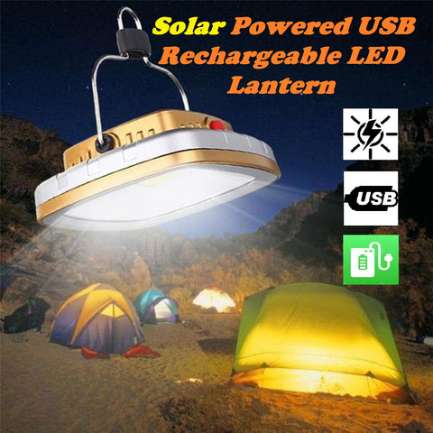Solar Powered USB Rechargeable LED Lantern