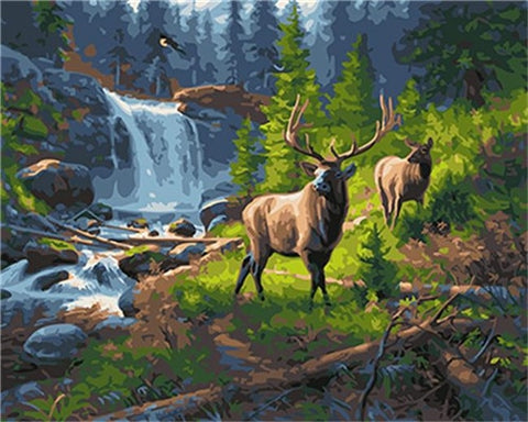 Woodland Caribou - Van-Go Paint-By-Number Kit