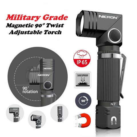 Military Grade Magnetic 90° Twist Adjustable Torch