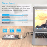 Professional USB 3.0 Transparent HDD Case + Protection Bag