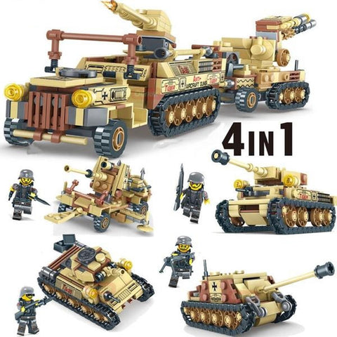Classic WW2 Russian Heavy Military Vehicle 4 in 1 Building Blocks set - 2019 Christmas Kid Gift - MaxStore4U