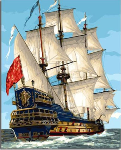 Sailing War Ship - Van-Go Paint-By-Number Kit