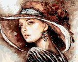 Lady with a Brown Hat - Van-Go Paint-By-Number Kit