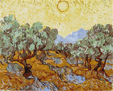 Olive Trees with Yellow Sky and Sun by Vincent Van Gogh - Van-Go Paint-By-Number Kit