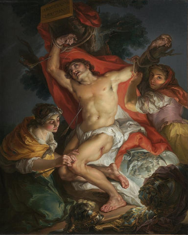 Saint Sebastian Tended by Saint Irene (Vicente López) - Van-Go Paint-By-Number Kit