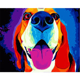 Colorful Dog - Van-Go Paint-By-Number Kit