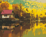 Lakeside Cottage Reflection at Sunset - Van-Go Paint-By-Number Kit