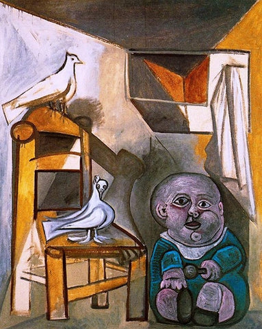 A child with pigeons by Pablo Picasso (5) - Van-Go Paint-By-Number Kit