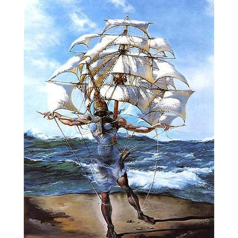 A Caravela by Salvador Dali - Van-Go Paint-By-Number Kit