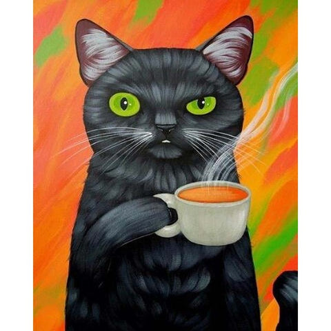 A Cat of Tea - Van-Go Paint-By-Number Kit