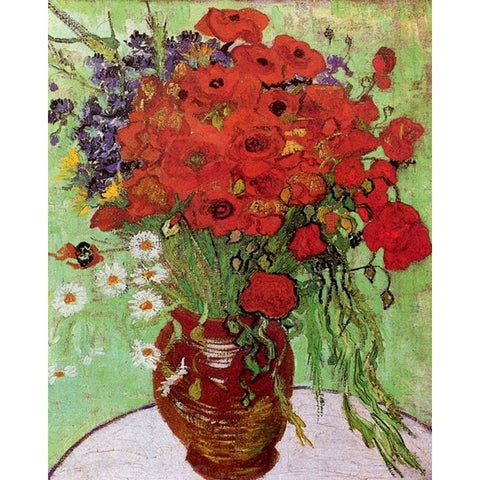 Vase with Red Poppies and Daisies by Vincent Van Gogh - Van-Go Paint-By-Number Kit