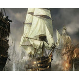 18th century naval battle (ALI1) - Van-Go Paint-By-Number Kit