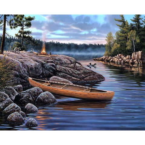 A Canoe in the River - Van-Go Paint-By-Number Kit