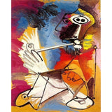 The smoker (Le Fumeur) by Pablo Picasso - Van-Go Paint-By-Number Kit