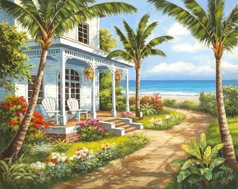 1853 South-East Asian Seascape - Van-Go Paint-By-Number Kit - MaxStore4U