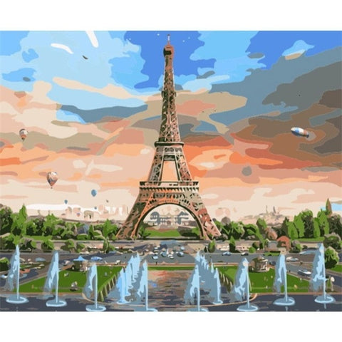 Eiffel Tower on the Bastille Day - Van-Go Paint-By-Number Kit