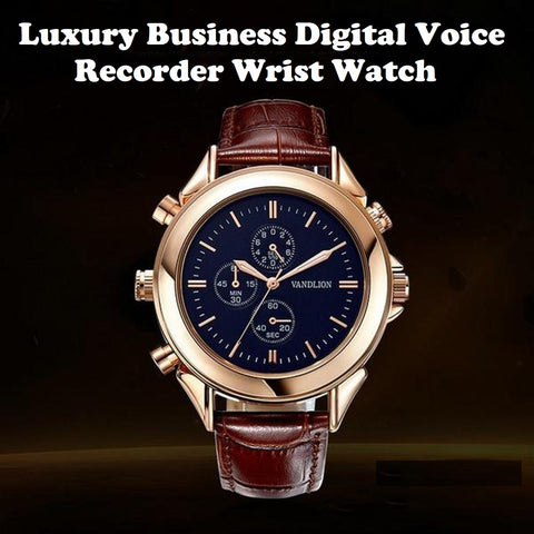 Luxury Business Digital Voice Recorder Wrist Watch