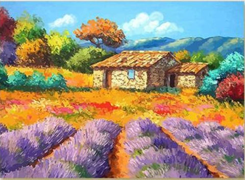 Shed with Lavender by Jean Marc Janiaczyk - Van-Go Paint-By-Number Kit