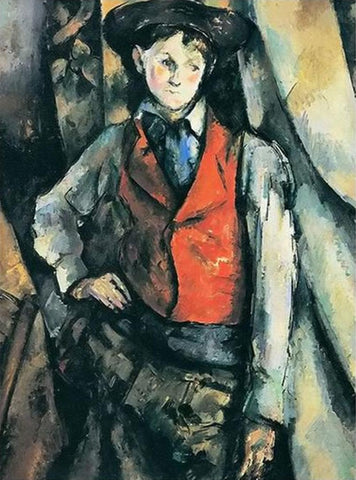 A Boy in a Red Vest by Paul Cezanne - Van-Go Paint-By-Number Kit