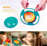 Spill-Proof Bowl - Non Spill Feeding Toddler Gyro Shape Bowl - MaxStore4U
