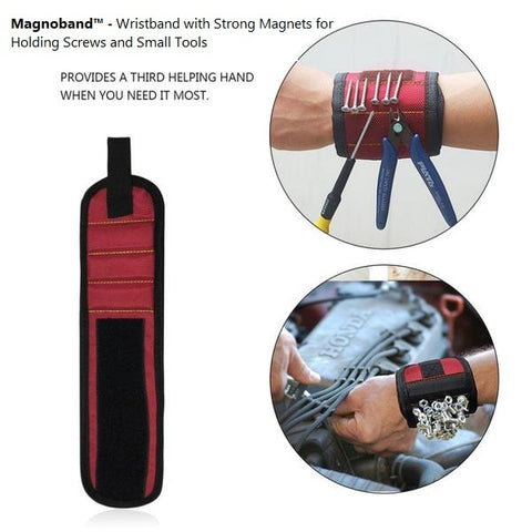 Magnoband™ - Magic Wristband with Strong Magnets for Holding Screws and Small Tools - MaxStore4U