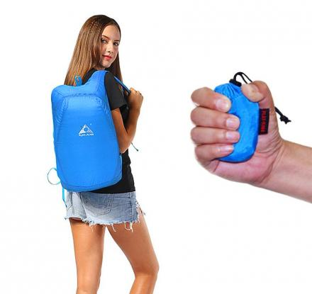 Tiny Packable Backpack Expands To Full Size 20 Liters Backpack