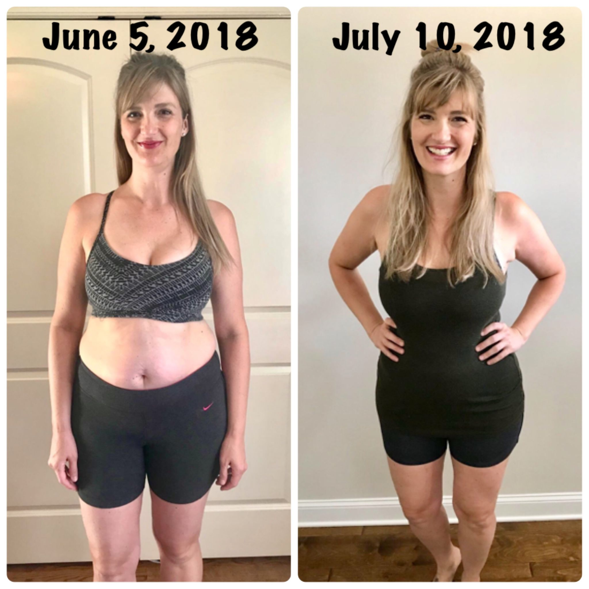Melissa, before and after