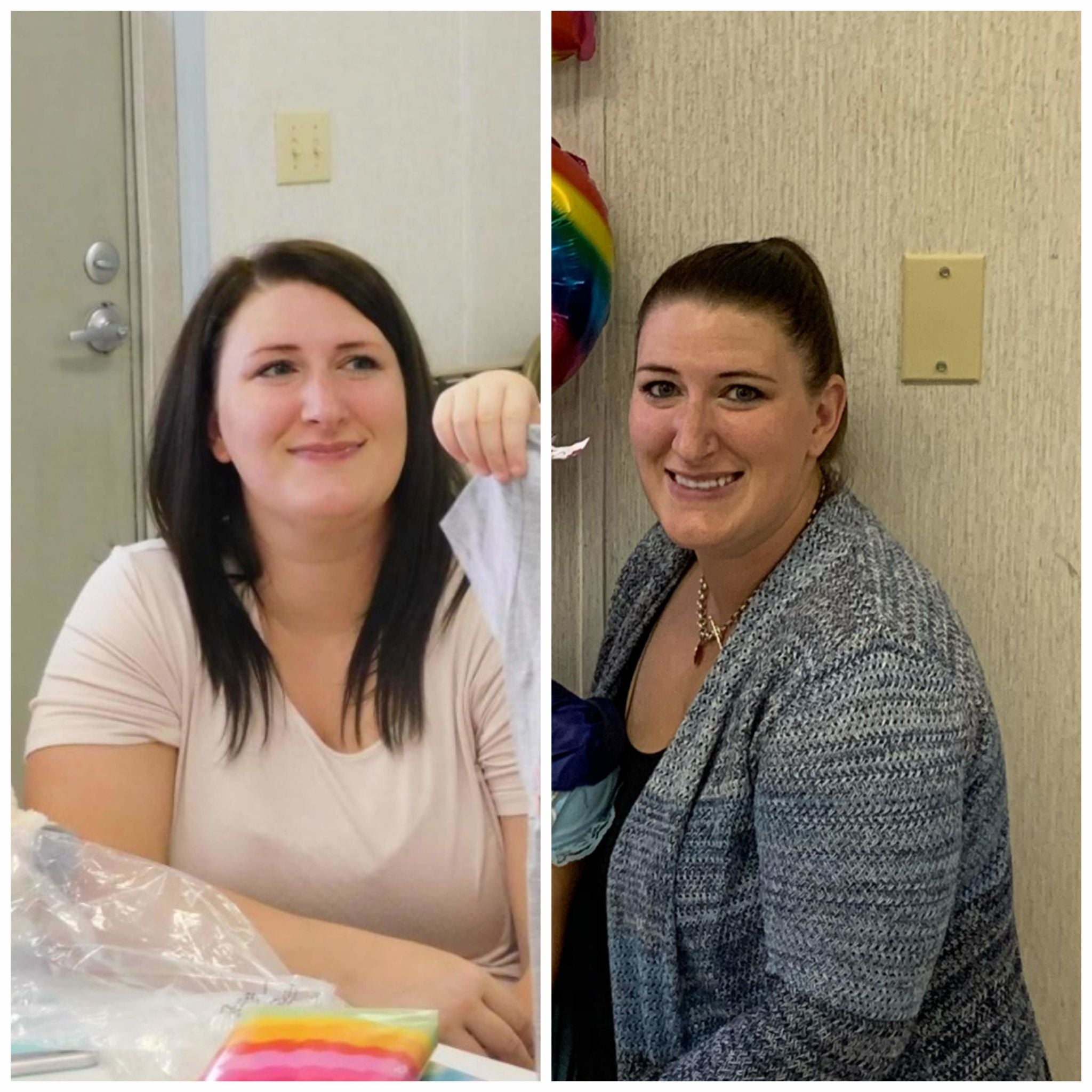 Stephanie, before and after