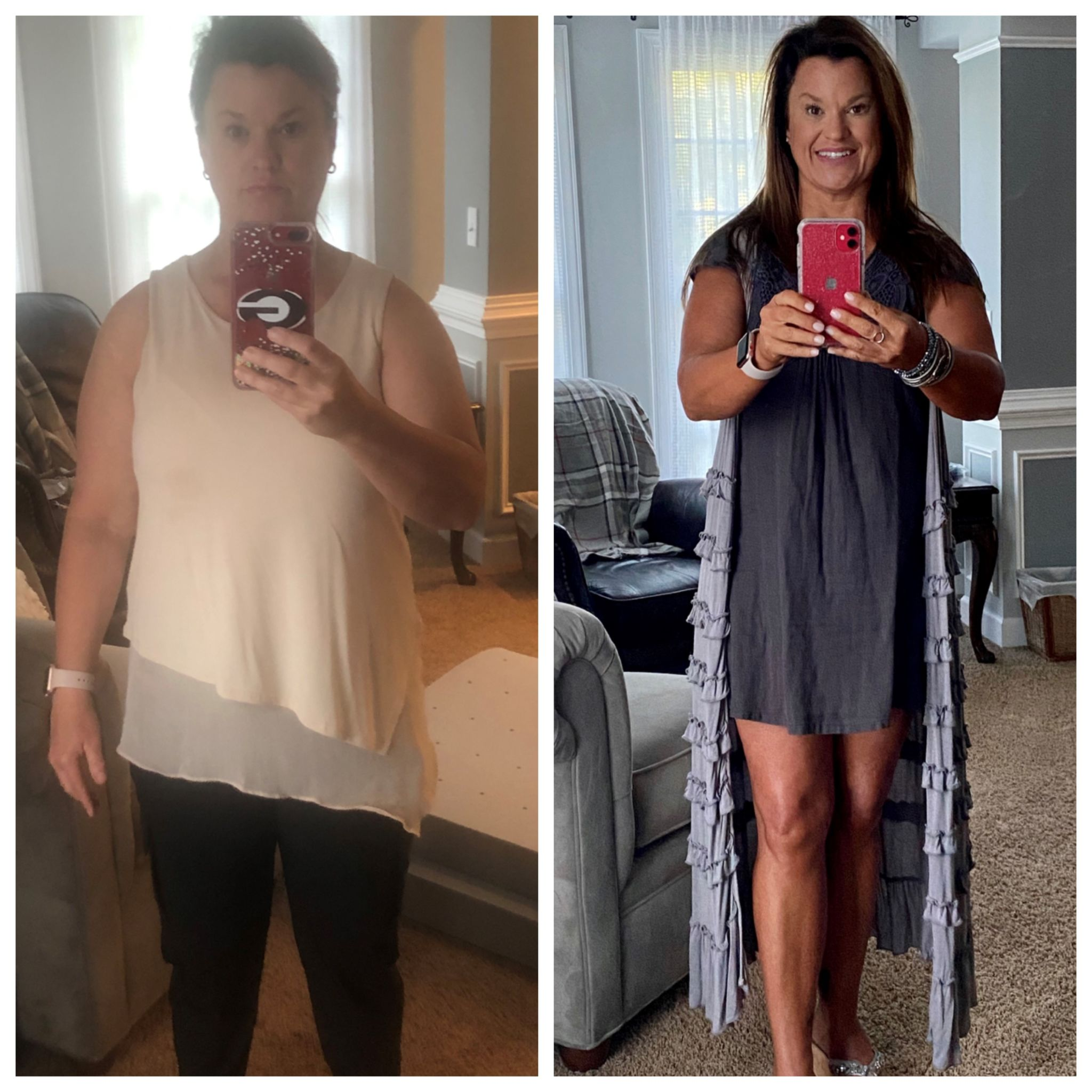 Tammy, before and after