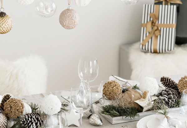 Picture of Christmas table setting
