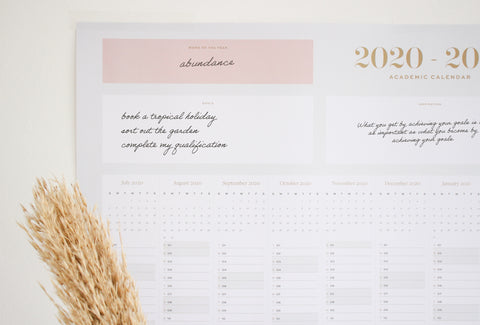 The Ponderlily Wall Calendar is perfect for planning and organising your year at a glance
