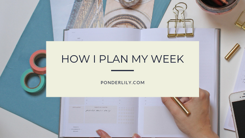 Image to How I plan my week blog post