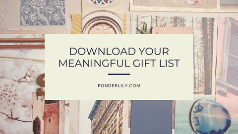 Picture of meaningful gift list
