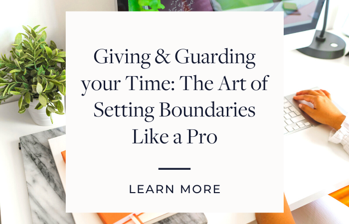 Link to blog post about boundaries