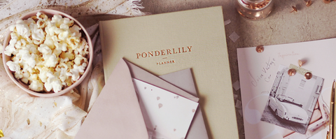 Image of Ponderlily planner and popcorn bowl