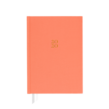 Weekly 2020 Ponderlily Planner without elastic band enclosure in coral