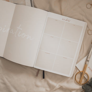 Inspiration board of undated Ponderlily Planner
