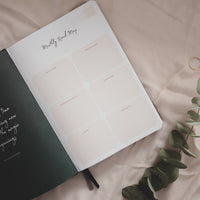 Undated Weekly Ponderlily Planner, Warm Grey