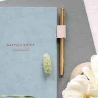 Ponderlily Meeting Notebook, Ocean Blue