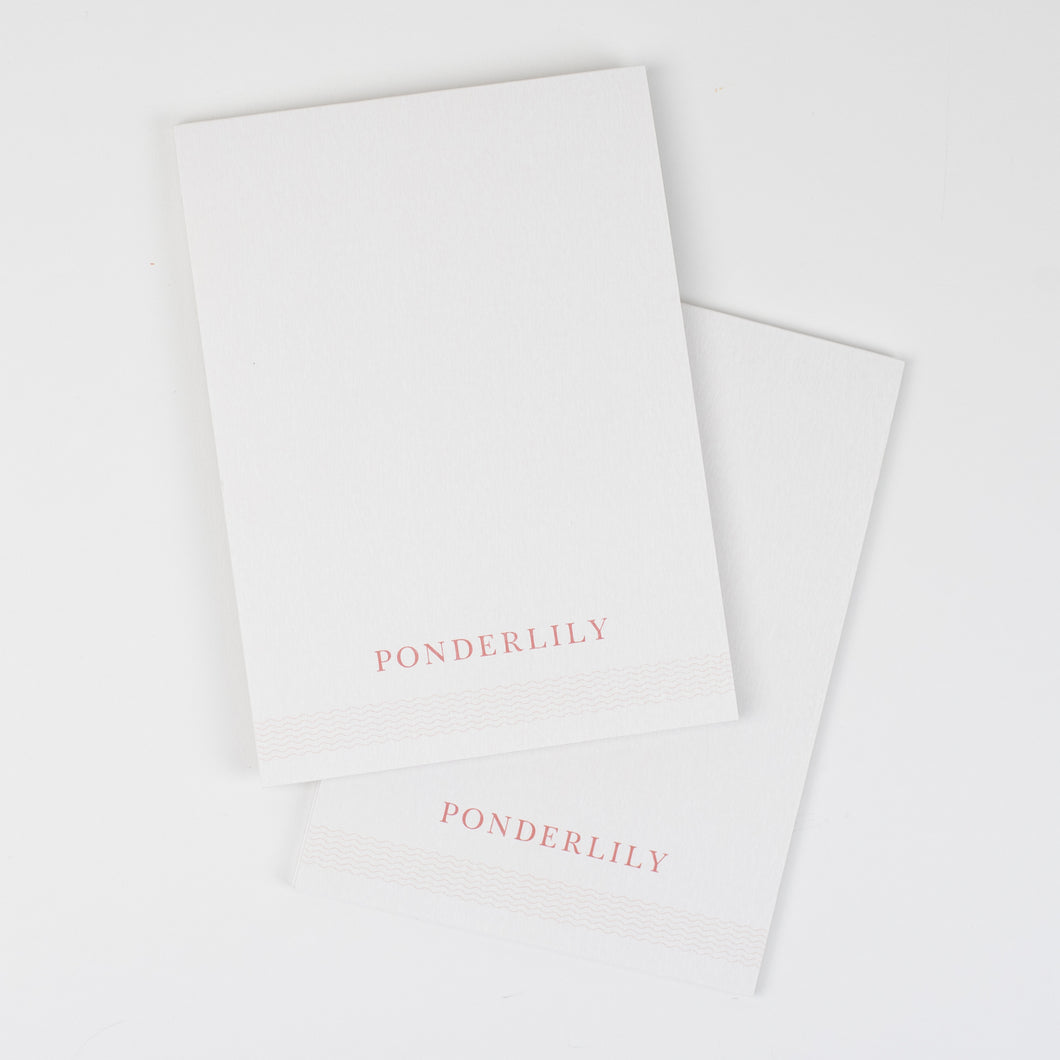 Ponderlily Meeting Notepad