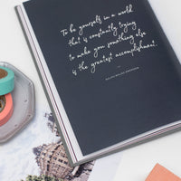 Ponderlily washi tape next to planner with inspirational Ralph Waldo Emerson quote