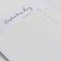 Desctinations section of the the Ponderlily travel journal