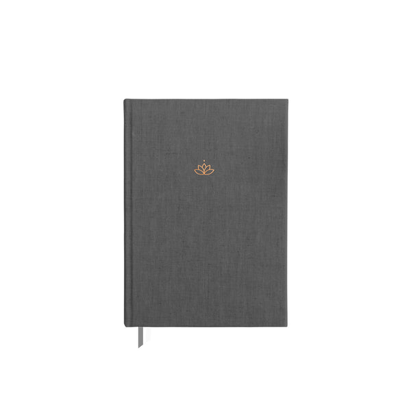 Charcoal undated Ponderlily Planner without elastic band enclosure