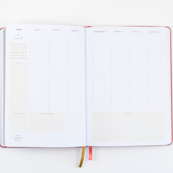 Ponderlily Weekly Planner opened up