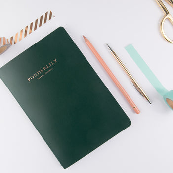 Ponderlily Travel Journal, Green