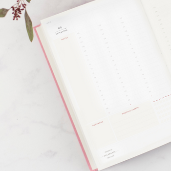 Ponderlily weekly planner showing daily intentions section